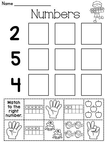 Number cut and paste worksheets and a lot more number