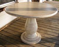42 inch Round Pedestal Table Huge Tear Drop Pedestal Solid
