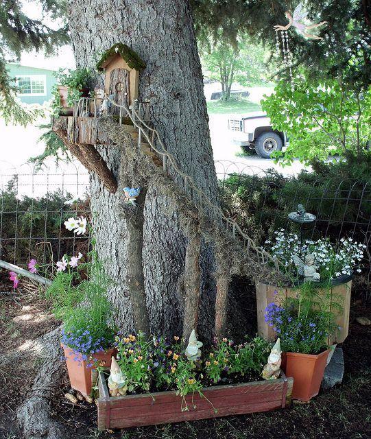25 Best Ideas About Fairy Tree On Pinterest Gnome Tree Stump