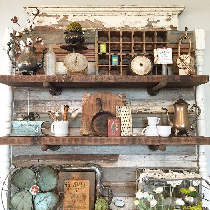1000 ideas about Shabby Chic Shelves on Pinterest  Reclaimed wood shelves Wall bookshelves