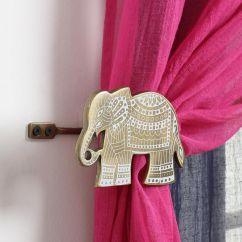 Cute Curtains For Living Room Walmart Sets Etched Elephant Curtain Tie-back | Elephants And