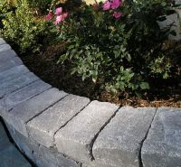 bamboo garden border bed edging landscaping stone and ...