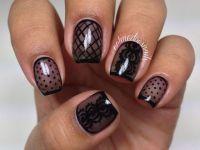 Nailpolis Museum of Nail Art   Sheer Black Nail Art by ...