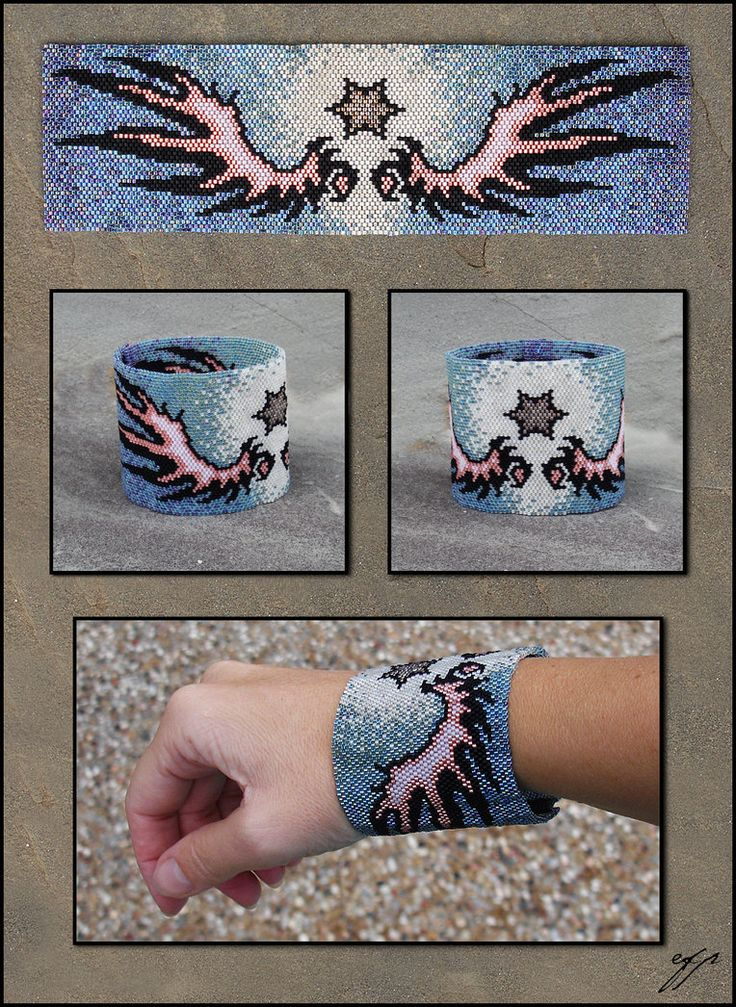 Wings and Star by Ellygator on deviantART  Beading  Pinterest  Beads