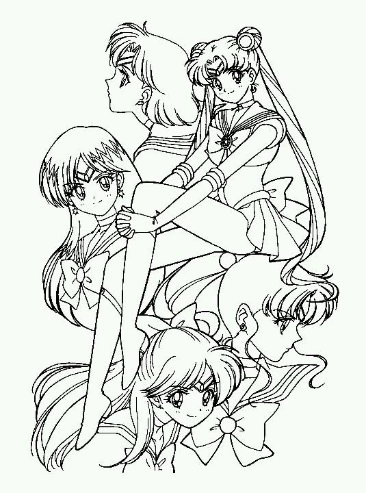 Sailor Senshi: Sailor Mercury, Sailor Moon, Sailor Mars