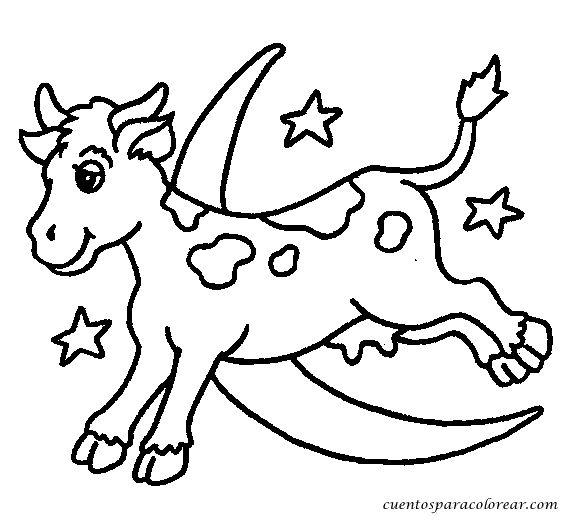 10 best images about Vacas, imprimir, colorear, pintar