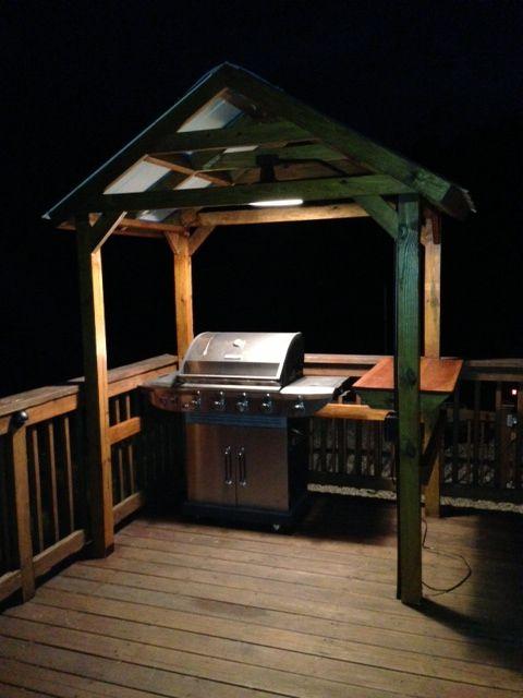 Grill Gazebo Decks Grill Area And Diy Grill