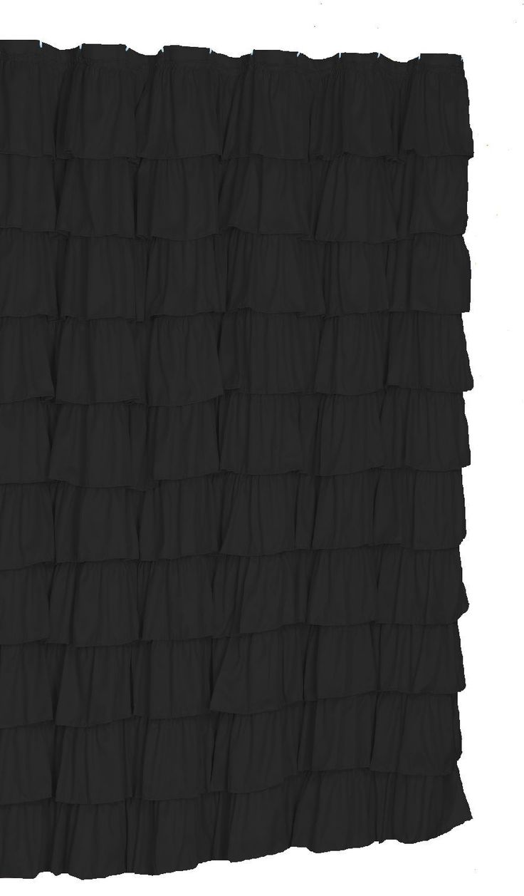 Black ruffle curtains - 25 Best Ideas About Ruffle Shower Curtains On Pinterest Girl