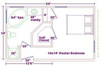 Master Bedroom 14x24 Addition Floor Plans with Master ...