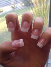 Best 25+ French tip acrylic nails ideas on Pinterest