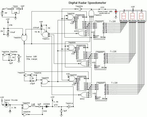 digital logic speedometer and odometer schematic flickr photo