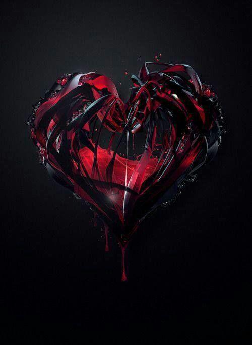 Broken Black Heart Wallpaper Gothic