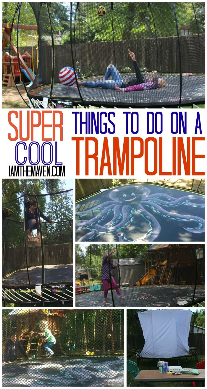 Try over 25 cool things to do on a trampoline  Trampolines and Chalkboards