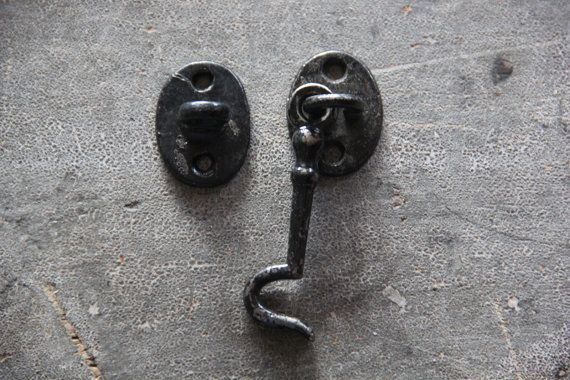 unique kitchen cabinet pulls cabinets storage ideas vintage toggle lock / chippy black cupboard ...