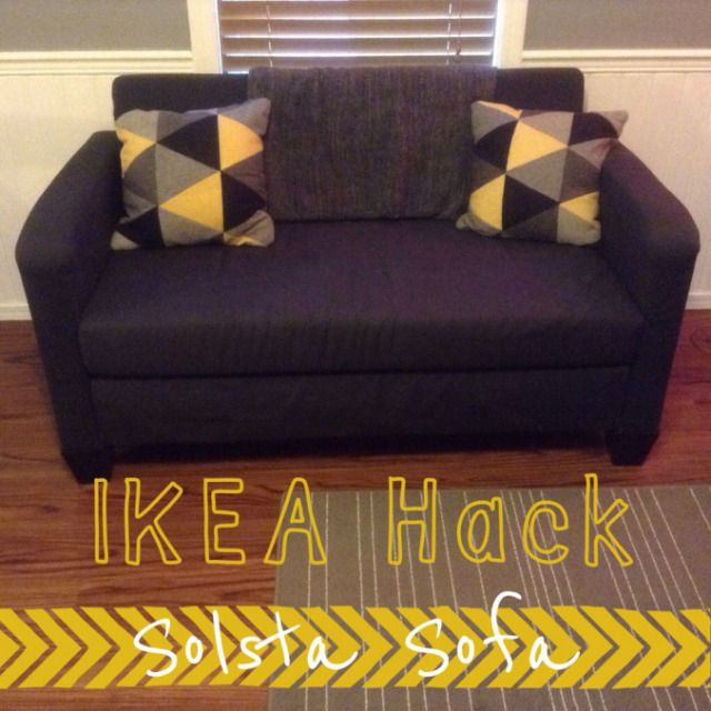 accent sofa pillows natuzzi sanremo leather corner recliner ikea hack- solsta bed | home decor pinterest ...