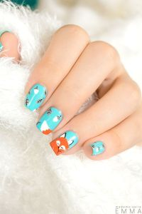 Fox nails, Foxes and Nail polishes on Pinterest
