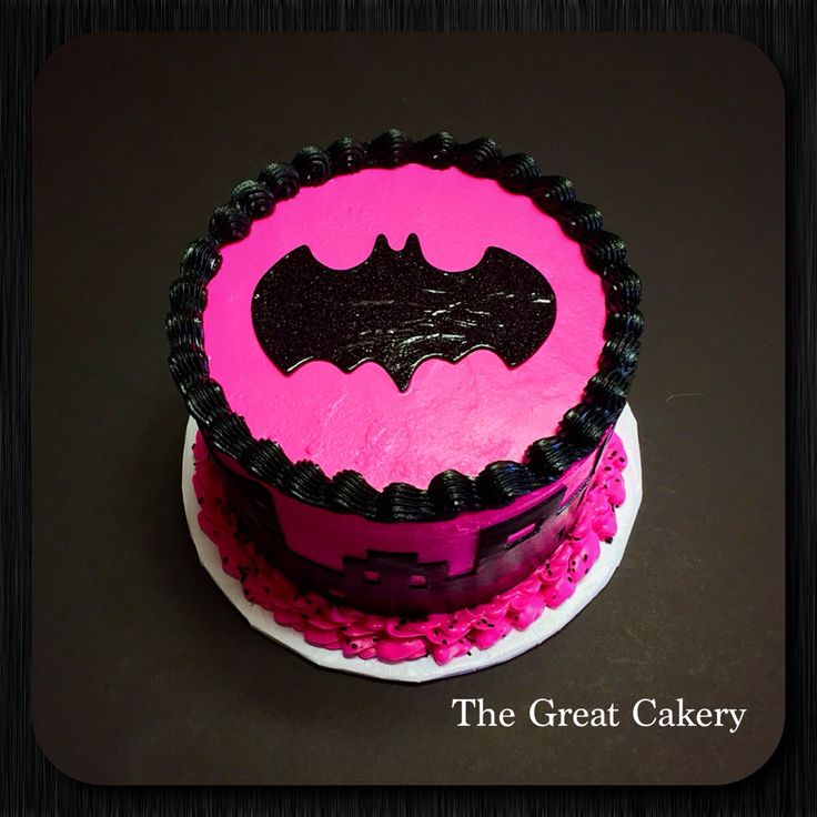 Pink Batgirl Layer Cake The Great Cakery Pinterest