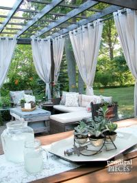 Best 25+ Pergola curtains ideas on Pinterest | Outdoor ...