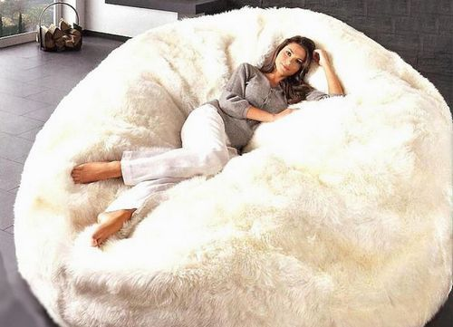 big bean bag chair canada patio tall table and chairs giant white fur cuddle | furniture pinterest chairs, beans ...