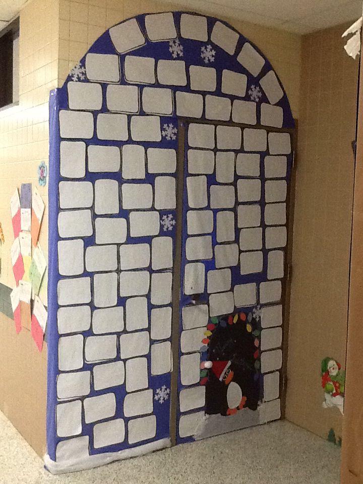 Igloo Classroom Door For Christmas School Pinterest