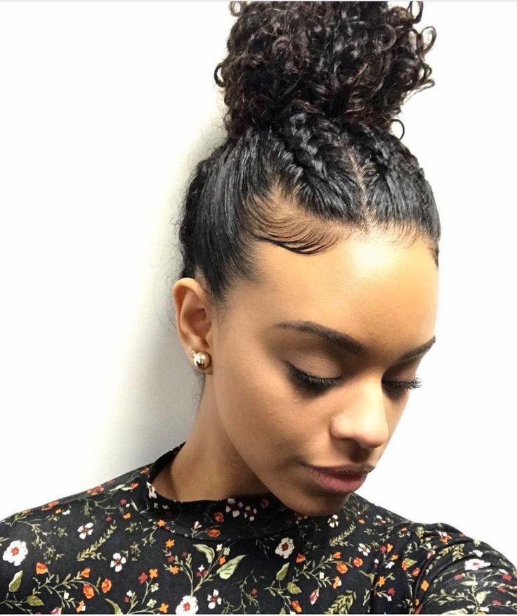 Best 25 Natural Bun Hairstyles Ideas On Pinterest Natural Hair