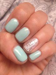 tiffany blue gel nails beauty