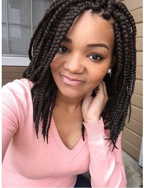 25 Best Ideas About Short Box Braids Hairstyles On Pinterest
