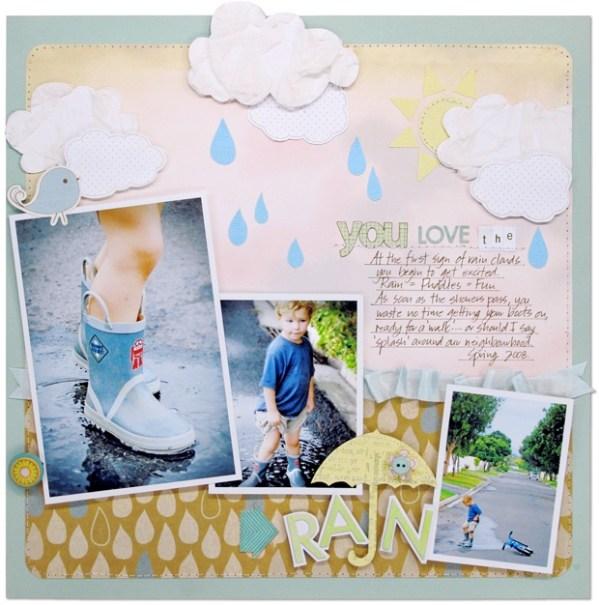 19 best Rainy Days Scrapbook Layouts images on Pinterest