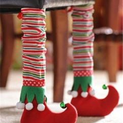 How To Make Chair Covers For Dining Room Chairs Bungee Office Elf Bootie Leg Cover, Set Of 2   Christmas Home, Red Green And Too Cute