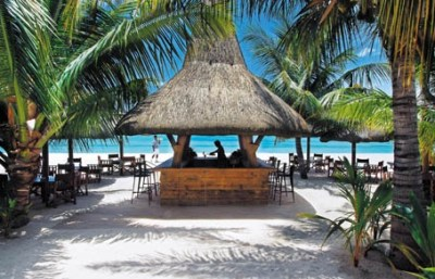 Island Beach Bar Thatched Hut Cabana #palm+tree #sand ...