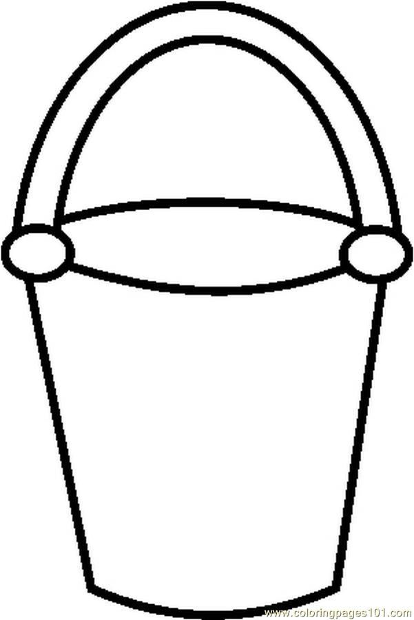 Free printable coloring pages, Buckets and Coloring pages
