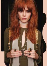 ideas red hair bangs