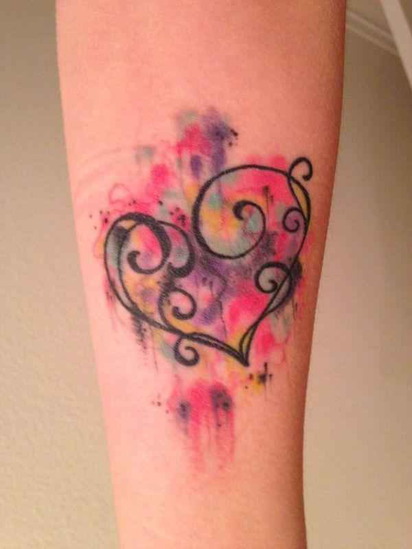 1000 ideas watercolor heart