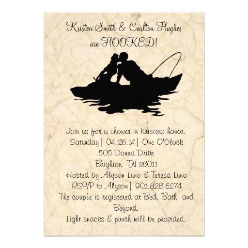 Vintage Fishing Lovers Boat Wedding Invitation Boats
