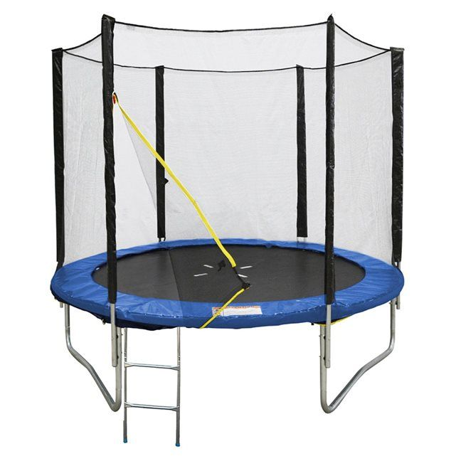 trampoline cm avec filet de protection et son echelle