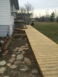 Raised wooden walkway