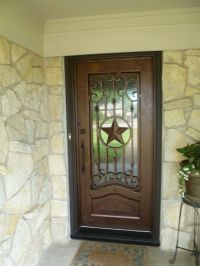 Texas Lone Star iron door aaleadedglass.com | Rustic Home ...