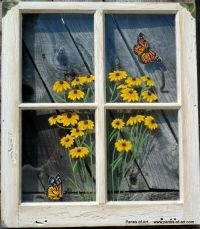 25+ best ideas about Old Windows Painted on Pinterest ...