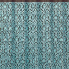 Aqua And Brown Living Room Curtains Wall Mounted Furniture Jojo Designs Bella Blue Turquoise Damask Girl Teen ...