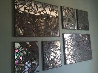 DIY broken mirror mosaic Things needed : 1)Canvas 2)Broken ...
