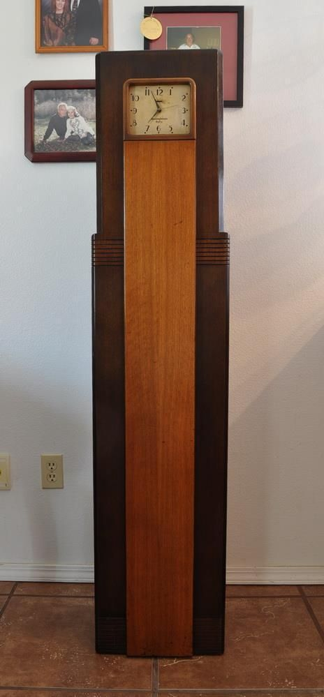 Westinghouse wr8 columnaire grandfather clock radio 1931  Radios Grandfather clocks and Clock