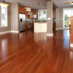 How Much Does It Cost To Remodel A Kitchen Painting Cabinets Alluring Brown Brazilian Teak Wood Laminated Floor And ...
