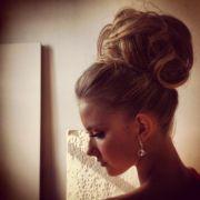 big high bun. wedding hair