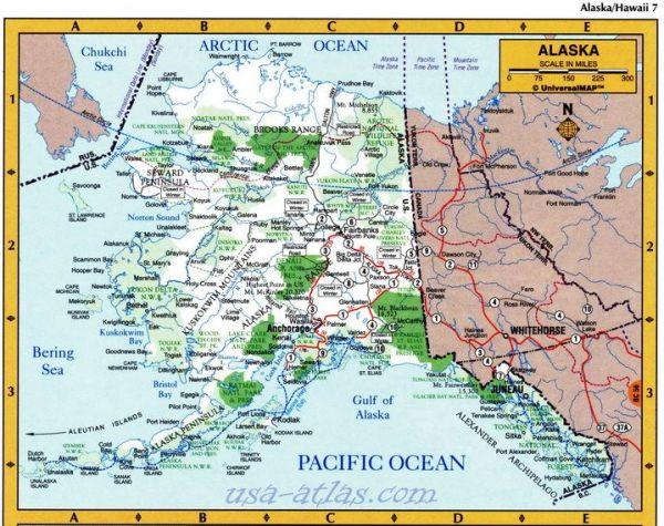 Alaska driver39s atlas Detailed road atlas of state Alaska