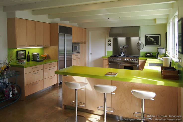 kitchen cabinets austin chalkboard art modern maple with green caesarstone countertops ...
