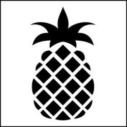 Pineapple StencilCrafts Ideas Pineapple Diy Art Stencils