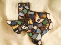 Talavera Tile Shards State of Texas Mosaic Wall Art by ...