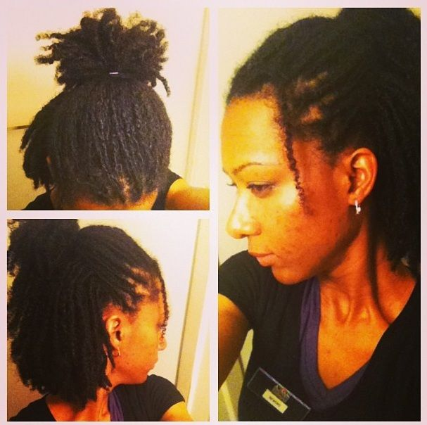 loose two strand twist  My locs were selfstarted with