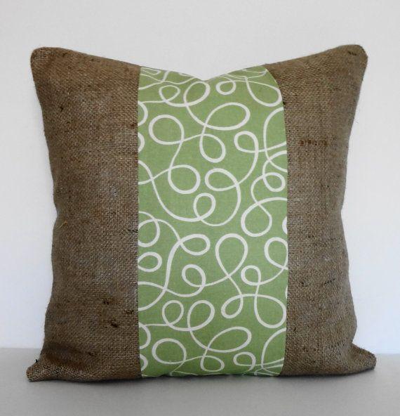 Burlap Sage Green Decorative Pillow Cover P Kaufmann