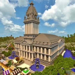 minecraft town hall things castle build buildings halls modern designs render random medieval builds blueprints stuff houses incredible creations architecture